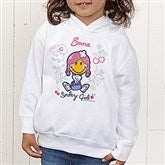 Smiley Girl® Personalized Toddler Hooded Sweatshirt - 13299-THS