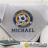 Smiley Sport® Personalized Sweatshirt Blanket - 13303