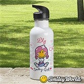 Smiley Girl® Personalized Water Bottle - 13308