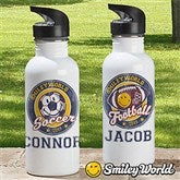 Smiley Sport® Personalized Water Bottle - 13310