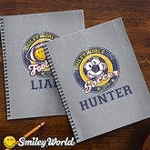 Smiley Sport® Personalized Large Notebooks-Set of 2 - 13313