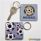 Smiley Sports® Personalized Key Ring - 13317