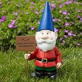 Gary Garden Gnome with Personalized Greeting Sign - 13322