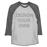 Design Your Own Baseball T Shirt 3 4 Length Raglan