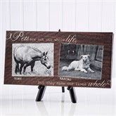 My Pets Personalized Canvas Print-2 Photos- 5½ x 11
