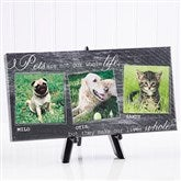 My Pets Personalized Canvas Print-3 Photos- 5½ x 11