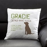 Definition of My Dog Personalized  Pillow - 13342-SC