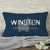 Definition of My Dog Personalized Lumbar Throw  Pillow - 13342-LB