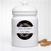 Throw Me A Bone Personalized Treat Jar - 13348