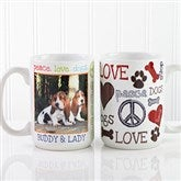 Peace, Love, Dogs Photo Coffee Mug 15oz.- White - 13349-L
