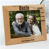 Special Uncle Personalized Frame- 8 x 10 - 13351-L