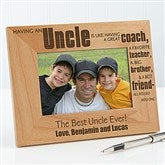 Special Uncle Personalized Photo Frame- 4 x 6 - 13351-S