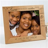 Special Aunt Personalized Photo Frame - 8x10 - 13353-L