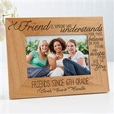 Forever Friends Personalized Picture Frame - 4x6 - 13355