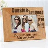 Cousin's  Personalized Picture Frame- 4 x 6 - 13356
