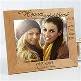 Cousin's Personalized Picture Frame- 8 x 10 - 13356-L