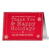 Thank You Personalized Christmas Cards - 13360