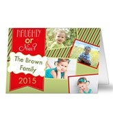 Naughty or Nice Personalized Photo Christmas Card- 4 Photo - 13367-4