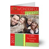 Most Wonderful Time Photo Christmas Card- 1 Photo - 13368-1
