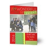 Most Wonderful Time Photo Christmas Card- 2 Photo - 13368-2