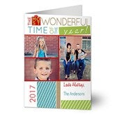 Most Wonderful Time Photo Christmas Card- 3 Photo - 13368-3
