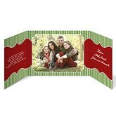 Classic Holiday Gatefold Photo Christmas Cards - 13377