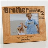 Special Brother Personalized Photo Frame- 5 x 7 - 13381-M