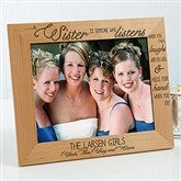 Special Sister Personalized Photo Frame- 8 x 10 - 13382-L