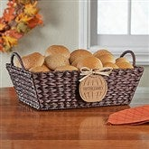 Fall Basket with Personalized Wood Pumpkin - Name - 13388-N