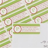 Holiday Monogram Return Address Labels - 13422