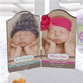 Precious Babies Personalized Petite Double Plaque- Twin - 13440-2
