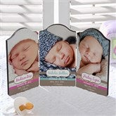 Precious Babies Personalized Petite Photo Plaque- Triplet - 13440-3
