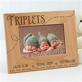 Triplet Love Personalized Frame- 4 x 6 - 13441-3