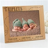 Triplet Love Personalized Frame- 8 x 10 - 13441-3L