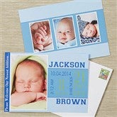 Baby Boy's Big Day Photo Baby Announcement - 13444