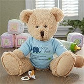 New Arrival Personalized Baby Teddy Bear- Blue - 13450-B