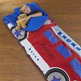Fire Engine Embroidered Sleeping Bag