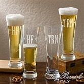 Luigi Bormioli® Engraved Monogram Pilsner Set - 13456