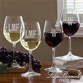 Luigi Bormioli® Engraved Monogram Wine Glass Set - 13457