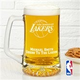 NBA Logo Personalized Deep Etch Beer Mug - 13478