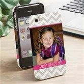 Picture Perfect Chevron iphone 4/4s Hardcover Cell Phone Case- 1 Photo - 13483-1
