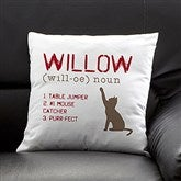 Definition of My Cat Personalized Pillow - 13502-SC