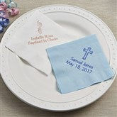 Christening Day Personalized Napkins - Beverage Size - 13509D-B