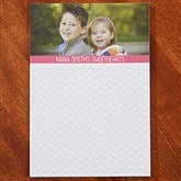 Chevron Personalized Photo Notepad- 1 Photo - 13521-1