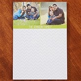 Chevron Personalized Photo Notepad- 2 Photo - 13521-2