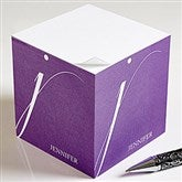Stylish Monogram Personalized Paper Note Cube - 13543