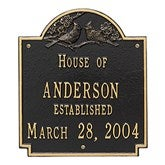 Date Established Family Personalized Aluminum House Plaque - 1354D