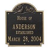Date Established Family Personalized Aluminum House Plaque - 1354D