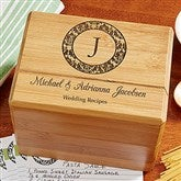 Wedding Recipes Personalized Recipe Box - 13557