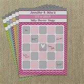 Chevron Baby Shower Personalized Bingo Cards - 13561